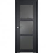 Дверь Профиль дорс 2.13U Черный матовый - со стеклом